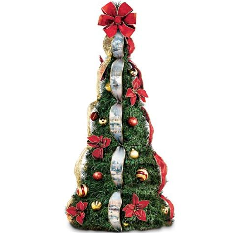 pull up decorated tree kinkade decorated pre lit pull up tree 4