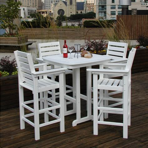 simple polywood outdoor furniture as idea of exterior home