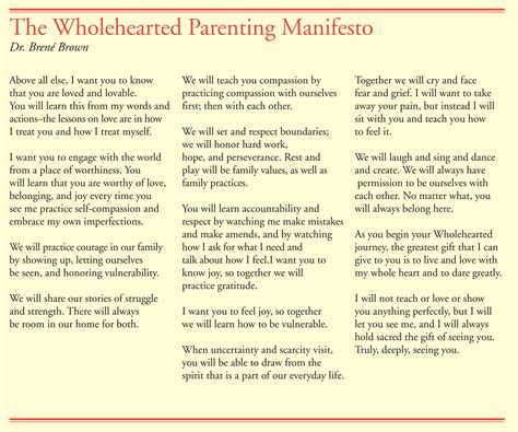manifesto for a cancer patient books parenting manifesto brene brown child development the