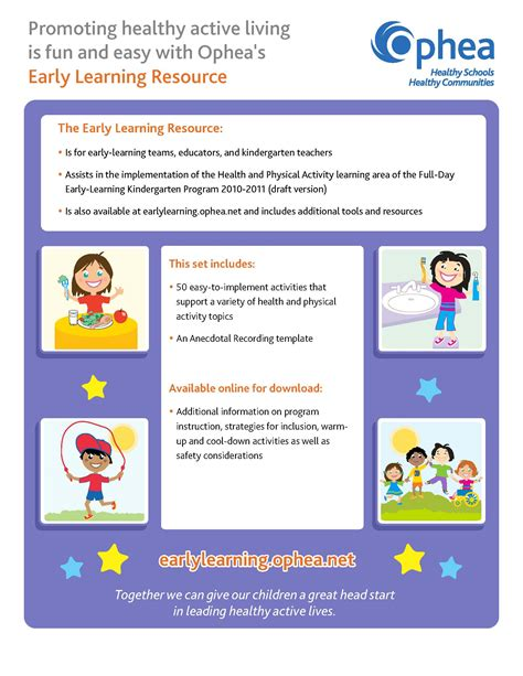 template for educational resources early learning activity cards ophea net