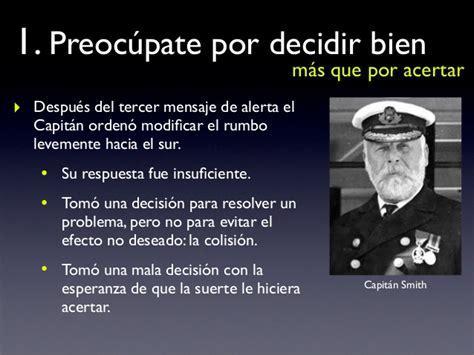 por el bien del el titanic y la toma de decisiones
