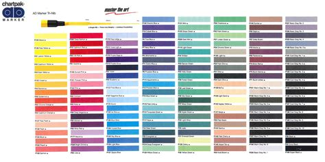 prismacolor marker color chart view color charts du all drafting supply