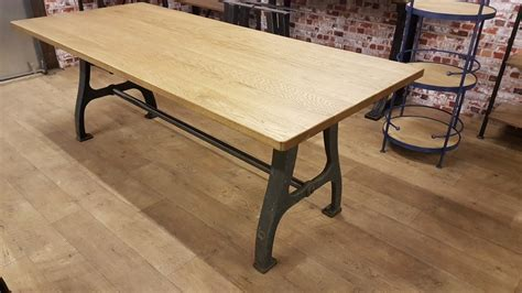 furniture industrial dining table industrial based dining tables from recycled steel and
