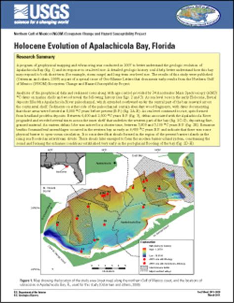 usgs fact sheet 2011 3028: holocene evolution of