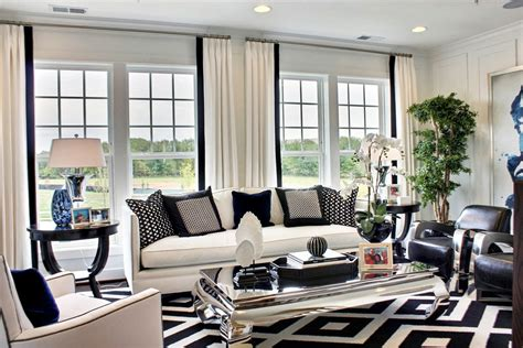 Living Room Black And White | black and white living room decoration