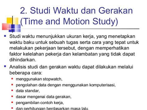 Ergonomi Dasar Dasar Studi Waktu Dan Gerakan Untuk Analisis Dan Perba pengukuran kerja