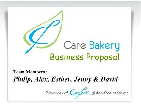 sle business plan on bakery care bakery proposal