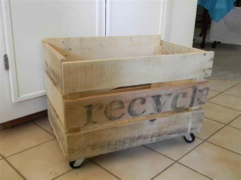 ana white simple pallet storage crate  wheels diy