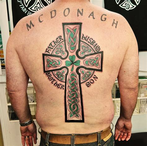 celtic cross tattoos on back custom celtic back cross by captain bret