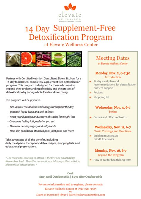 Free Detox Programs In Nj by Detoxification Program Nutrition Class Lake Tahoe