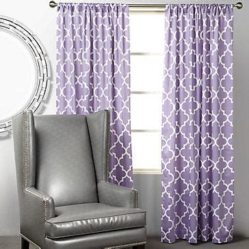 Z Gallerie Mimosa Panels Orchid Purple Curtains For Nursery
