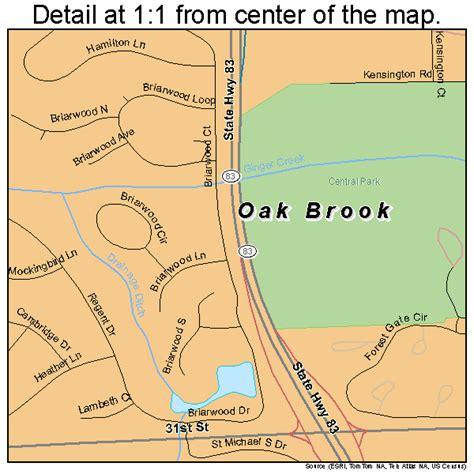 oakbrook mall map oak brook illinois map 1754534
