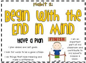 Habit 2 Begin With The End In Mind Essay by Wed 9 14 16 7 Habits Of Highly Effective Habit 2 Begin With The End In Mind Pgs 92