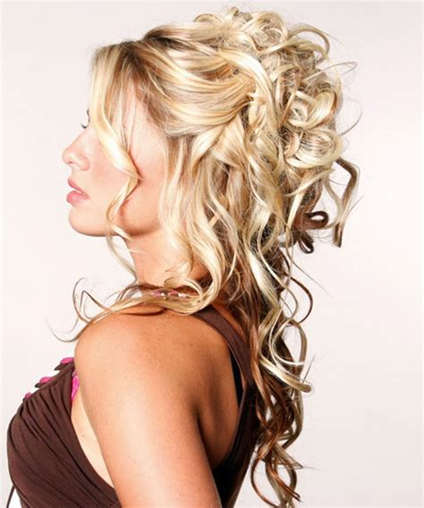 curly partial up how partial updos for long hair wedding pinterest half