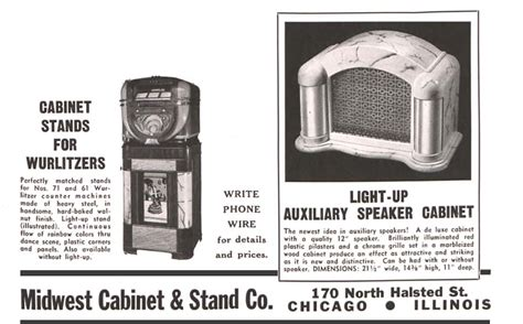 midwest cabinet stand companyjukebox illuminated grille