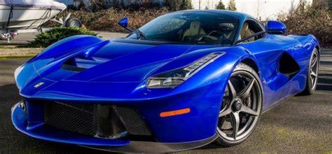 electric blue laferrari cars