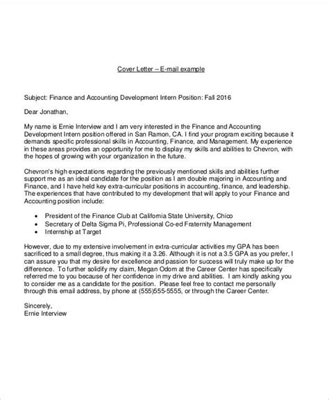 21 email cover letter exles sles