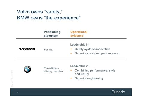volvo mission statement strategic differentiation