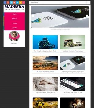 templates blogger slideshow madeeha onepage slide blogger template blogspot