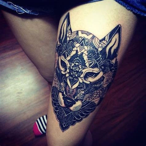 cat tattoo on thigh 50 beautiful thigh tattoos for girls