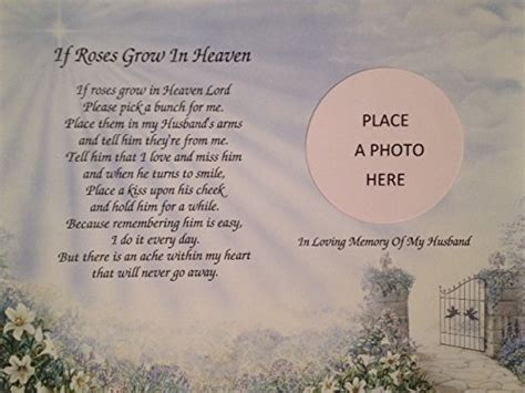 Wedding Anniversary Poems For Husband In Heaven by Gift List Update In Memory Of Husband If Roses Grow In