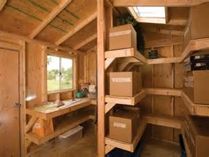 interior shelving and workbench by tuff shed storage