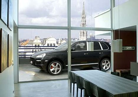 garage tech the hi tech garage that lifts cars up to your 6th storey apartment daily mail online