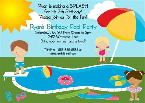 diy pool party invitation tutorial with free template design is