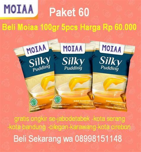 Moiaa Silky Puding Powder agen distributor moiaa 21 silky pudding powder 08998151148