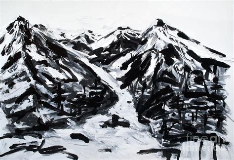 black and white paintings alps black and white painting painting by lidija ivanek sila