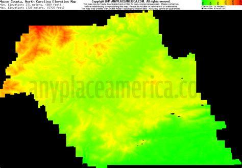 carolina elevation map free macon county carolina topo maps elevations