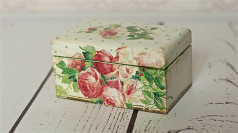How To Decoupage Wooden Box - decoupage tutorial tea box