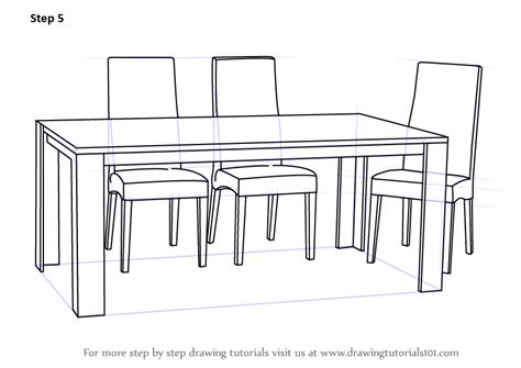 stuhl 3d zeichnen learn how to draw dining table with chairs furniture