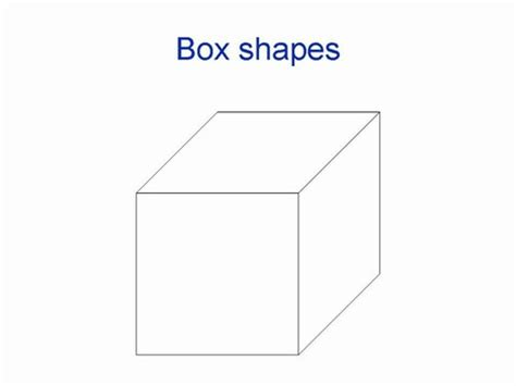 3 dimensional cube template 3d box shapes
