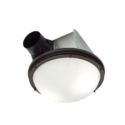 decorative bathroom exhaust fan with light nutone invent decorative rubbed bronze 80 cfm ceiling