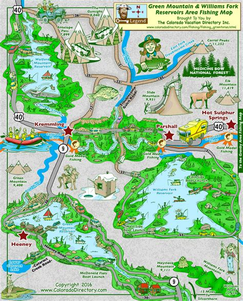 colorado map of fishing in green mountain reservoir fishing map colorado vacation