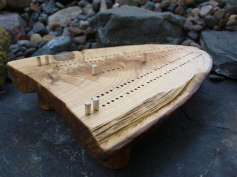 cribbage board handmade white ash cribbage board