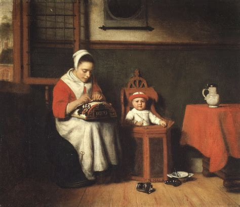 the lacemaker by nicolaes maes
