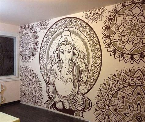 ganesh mandala tattoo beautiful wall drawing pinteres