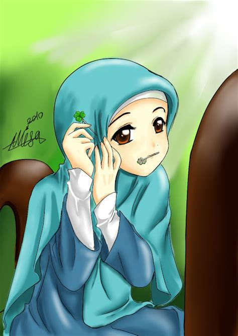 Anime Jilbab Syar I Kartun Akhwat Muslimah Mengenakan Jilbab Kerudung