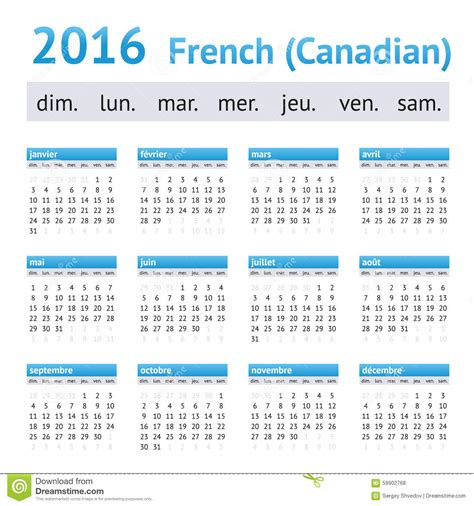 Calendrier Canadien Calendrier 2016 Am 233 Ricain Fran 231 Ais D 233 Buts De Semaine