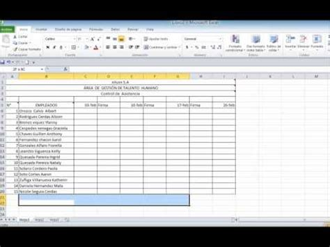 elaboracion de un registro automatico en excel parte 2 registro de asistencia automatizado doovi