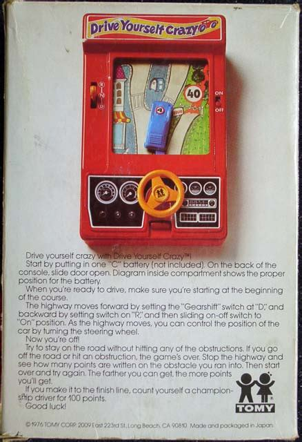 drive yourself drive yourself crazy juego electronico tomy 1976 d