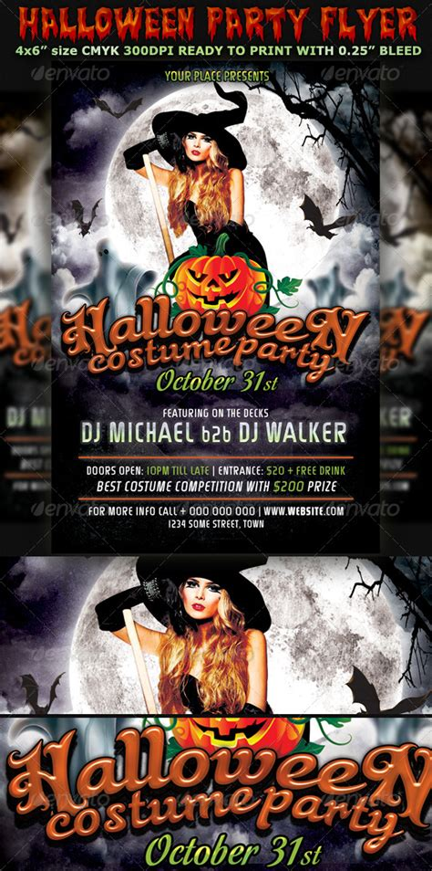 flyer templates halloween party halloween party flyer template v3 by hotpin graphicriver
