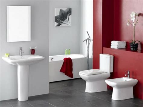 minimalist white bathroom designs to fall in love 12 red accent bathroom ideas to fall in love with