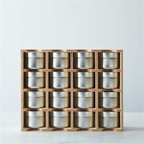 spice rack tins  erasable labels  food