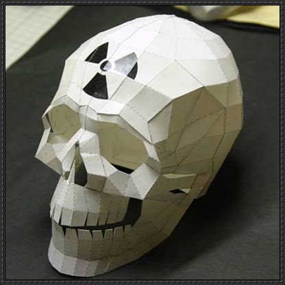 Paper Craft Skull - skull papercrafts page 4 of 7 papercraftsquare