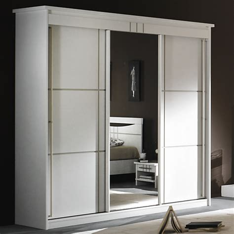 armoire trois portes coulissantes armoire 3 portes miroir coulissantes mareva blanc
