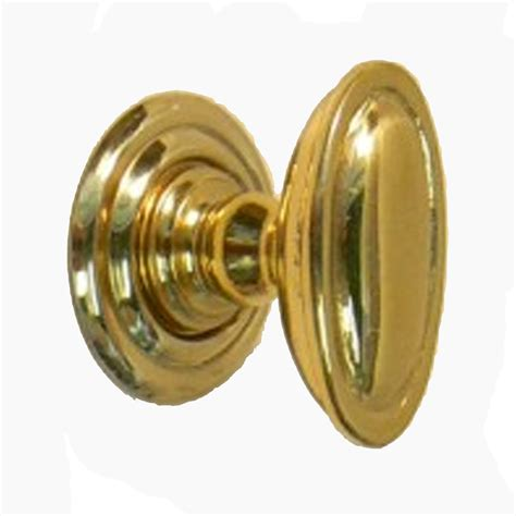 Brass Knobs Snobsknobs Edwardian Oval Brass Cupboard Knob Snobsknobs
