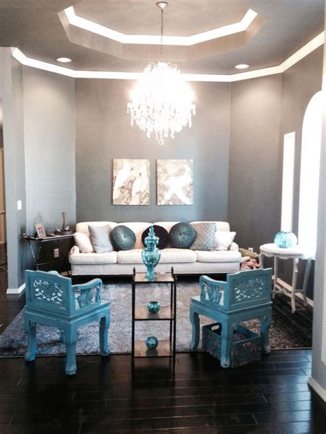 blue gray turquoise living room treasures in the home